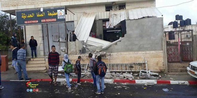 Damaged print-shop al-Quds