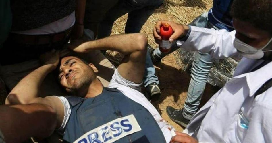 Killing Palestinian civilians and press