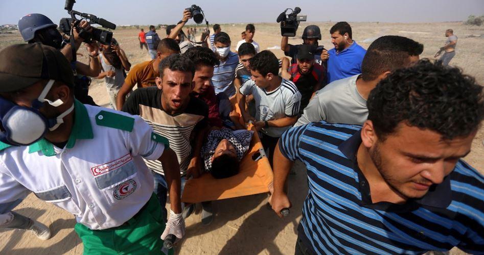 2 injured Gaza border