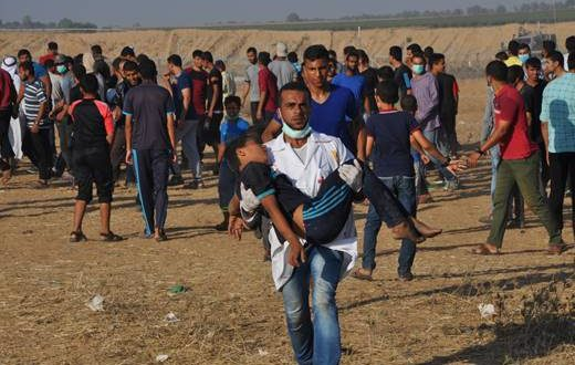 396 injured Gaza border