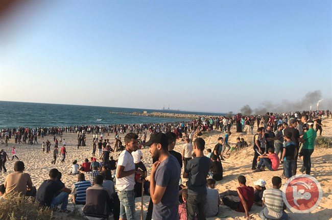 Attack on Palestinians border Gaza