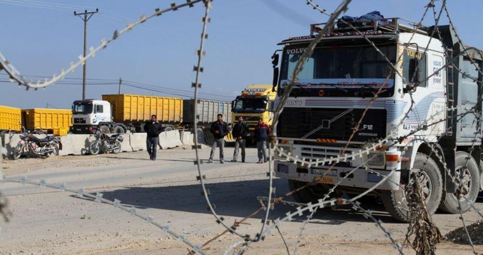 Trucks blocked