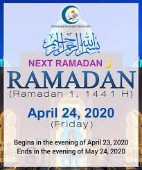 Ramadan 2020 begin